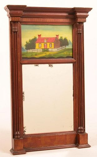 Federal Paint Decorated Softwood Mirror.
