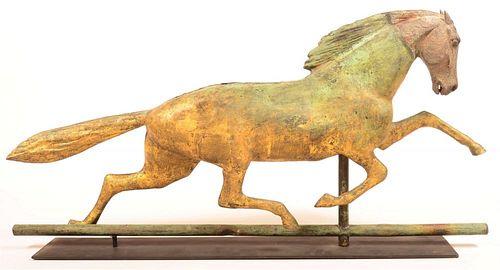 Copper Dimensional Horse Weathervane.