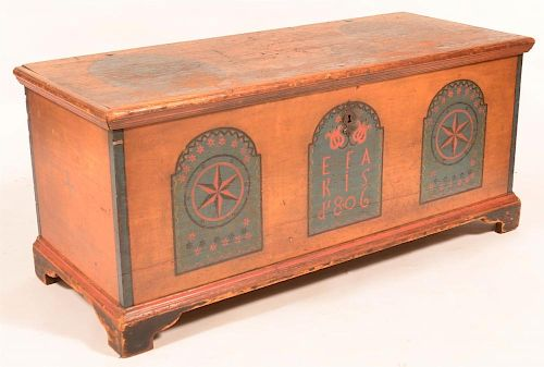 Dauphin County, PA  Softwood Dower Chest.