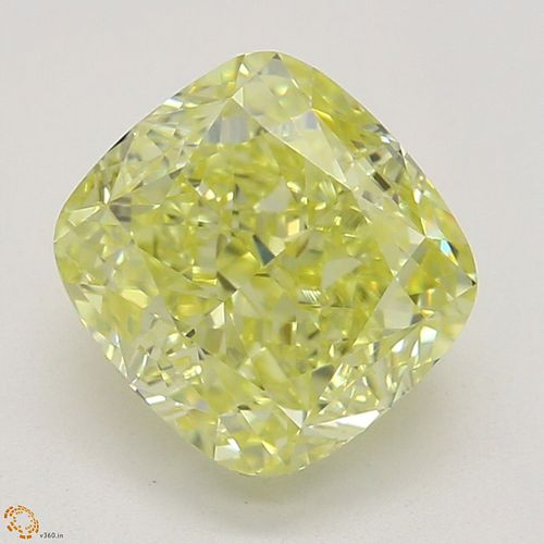1.51 ct, Natural Fancy Intense Yellow Even Color, IF, Cushion cut Diamond (GIA Graded), Appraised Value: $36,200