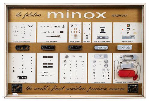 Vintage Minox Assembly Display Board