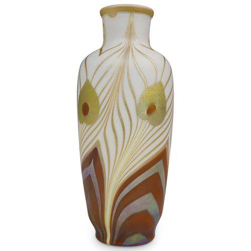 Rare Steuben Calcite w/ Gold Aurene Vase