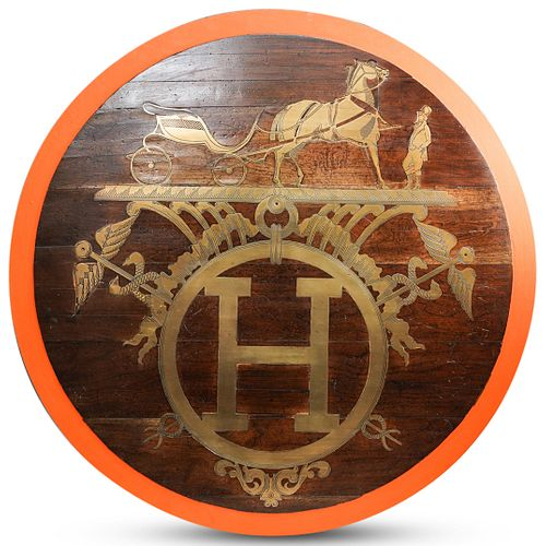 Architectural Salvage Hermes Store Sign