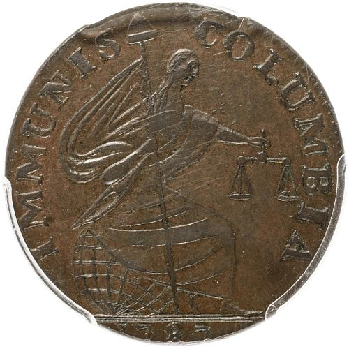 Exceptional 1787 Immunis Columbia, Copper Pattern, Eagle Reverse PCGS MS-63