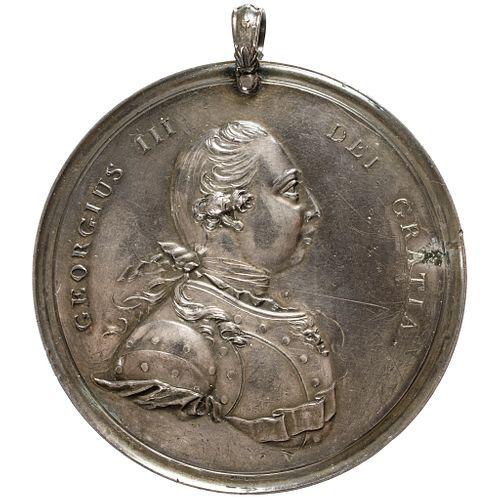 Exceedingly Rare Silver War of 1812 British Indian Peace Medal Adams-8.2