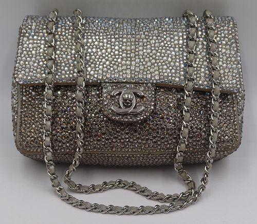COUTURE. Rare Chanel Strass Flap Mini Bag.
