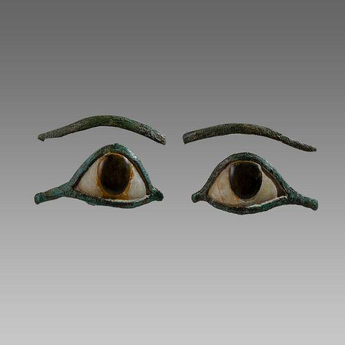 Ancient Egyptian Bronze Eyes Ca. 1000-300 B.C.