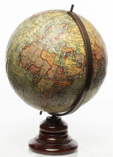 "English ""Geographia"" Terrestrial Globe on Stand"