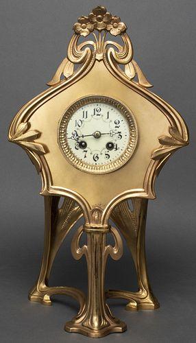 Lenzkirch Art Nouveau Manner Mantle Clock