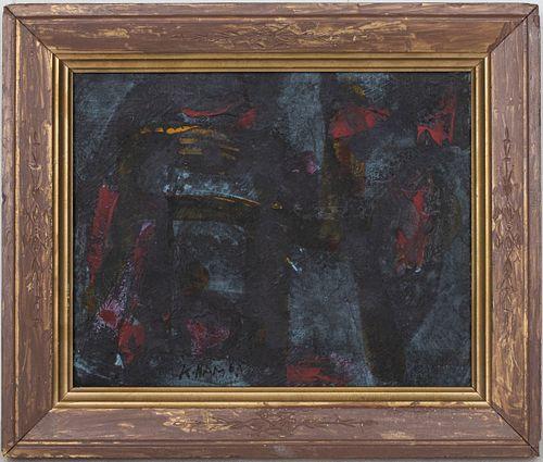 Nam Kwan Korean Abstract Oil on Canvas, c. 1964