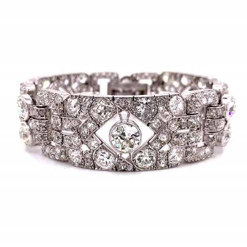 50.00 Ct Diamond French Deco Bracelet