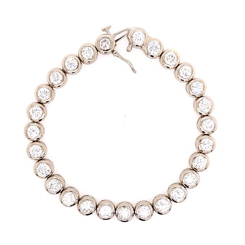 18k Diamond Tennis Bracelet