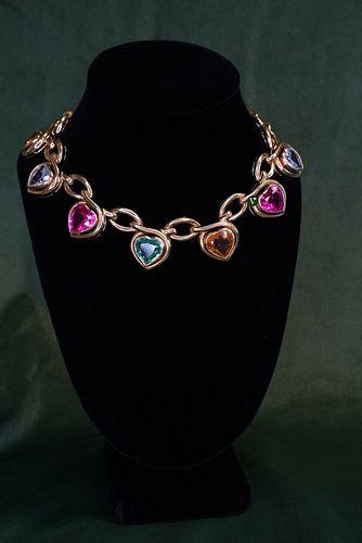 18K Multi Color Chain Necklace