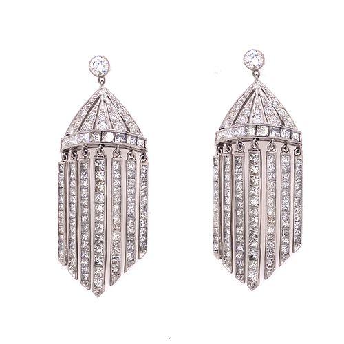 Platinum Diamond Chandeleir Dangling Earring