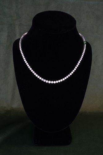 Platinum Diamond Tennis Necklace