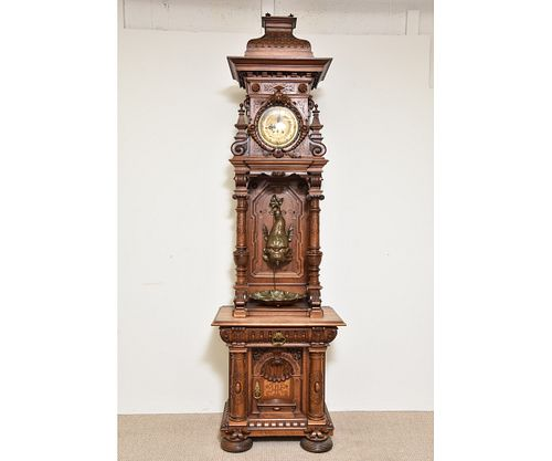 Black Forest Carved Tall Case Clock