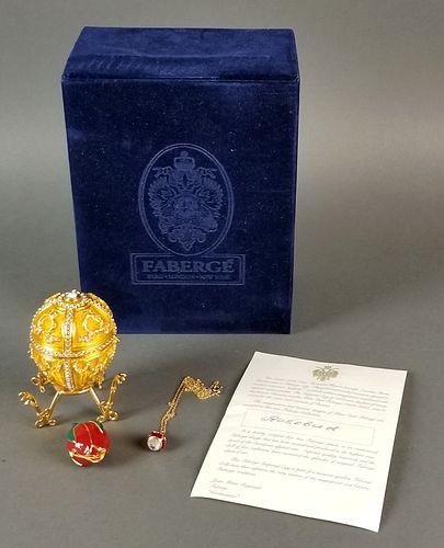 """House of Feberge Enamel Jewelled """"Rose Bud"""" Egg,"""