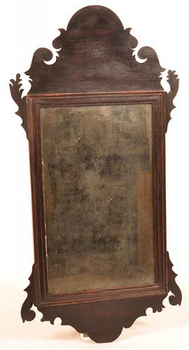 American Chippendale Mahogany Mirror.