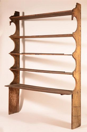 Late 18th/Early 19th Century Open Pewter Shelf.