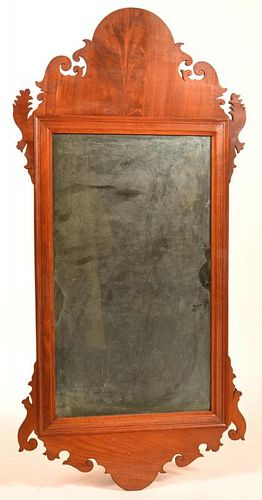 American Chippendale Mahogany Mirror.