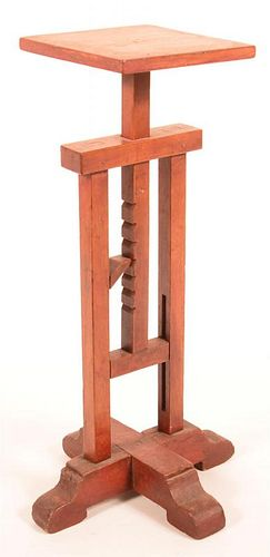 Mixed Wood Adjustable Candle Stand.