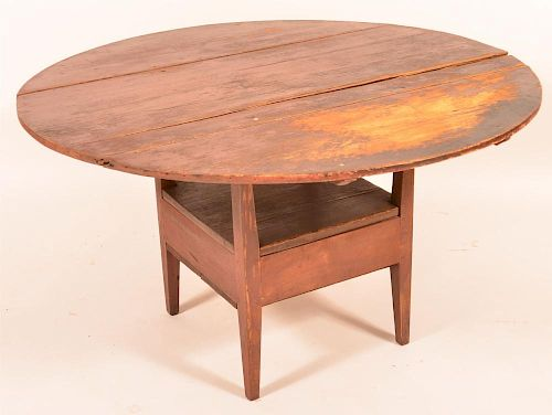 Early 19th Century Mixed Wood Bench Table.