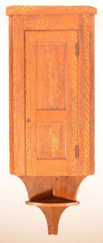 PA Softwood Hanging Corner Cupboard.