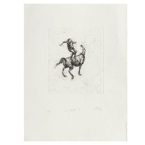 GARVAL. La Bestia II. Firmado. Grabado P/I. 20 x 16 cm