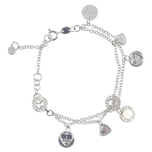 A Links Of London Bracelet And A Selection Of Silver And White Metal