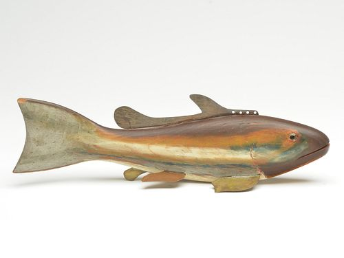 """A rare and desirable """"so called"""" ghost fish, Hans Janner, Mt. Clemens, Michigan, circa 1930."""