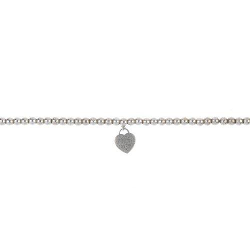 TIFFANY & CO. - a 'Return to Tiffany' bracelet. The miniature heart-shaped charm with 'Return to Tif