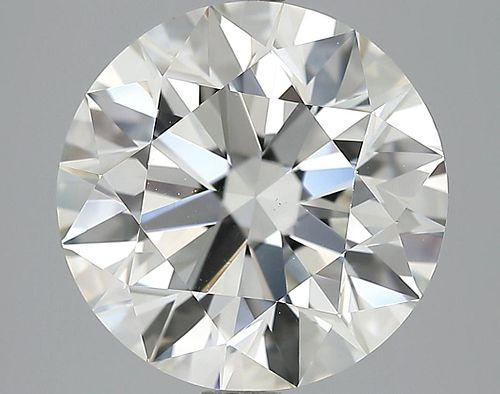 5.75 ct., H/VS1, Round cut diamond, unmounted, MGS-163
