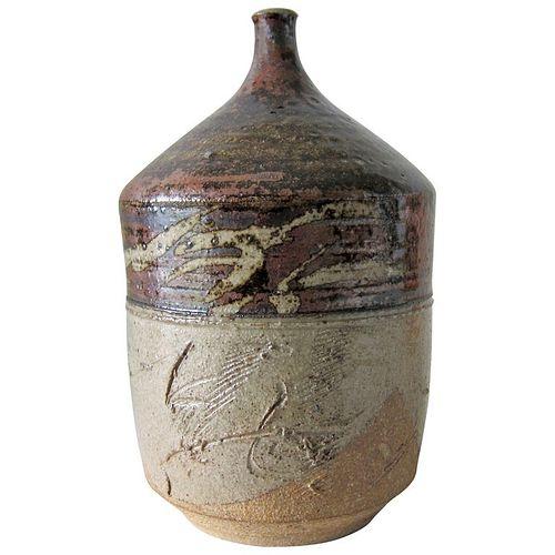 Paul Soldner Stoneware California Studio Pottery Vase