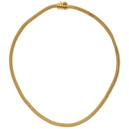 CHOKER IN 18K YELLOW GOLD, TANE Weight: 38.1 g