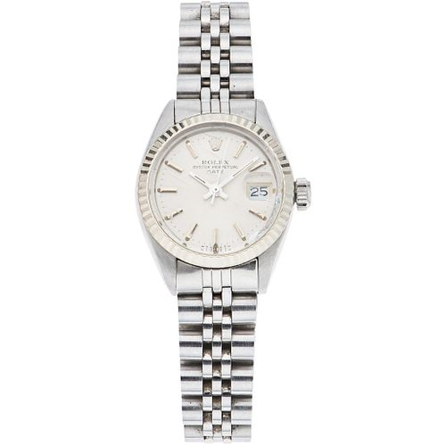 ROLEX OYSTER PERPETUAL DATE LADY WATCH IN STEEL REF. 6917, CA. 1979 - 1980  Movement: automatic