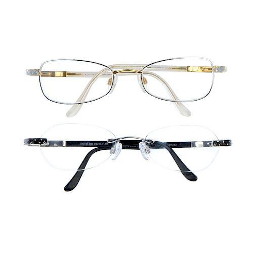 36677b718e DANIEL SWAROVSKI - two pairs of prescription glasses. To include a ...