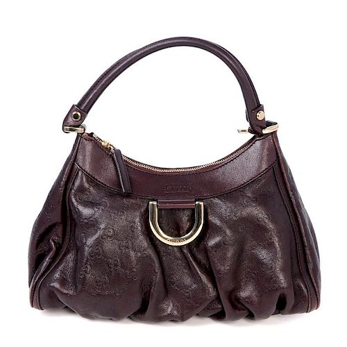 d2d3cdf867b GUCCI - a Guccissima D-ring Hobo Bag. Crafted of maker s GG ...