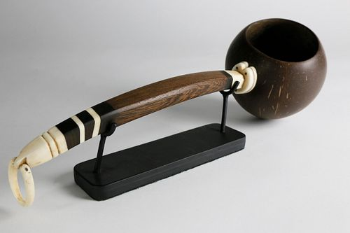 Whaleman Crafted Rum Coconut Dipper, mid 19th Century