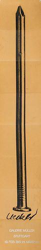 Uecker, Günther Sammlung von 4 Uecker-Zeitungen und einem Plakat (109 x 19,5 cm) und Ephemera.