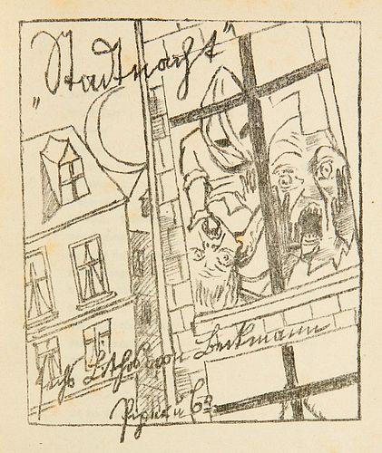 Braunbehrens, Lili von Stadtnacht. Sieben OLithographien von Max Beckmann auf Bütten zu Gedichten von L. von Braunbehrens. München, Piper, 1921. 47 S.