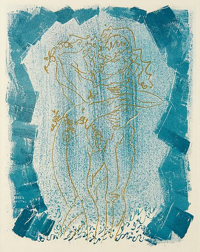 Maurois, André Les Érophages. Mit 3 Reliefs auf dem Umschlag und 16 (Aquatinta-)Radierungen von André Masson. Les Éditions la Passerelle, Paris, 1960.