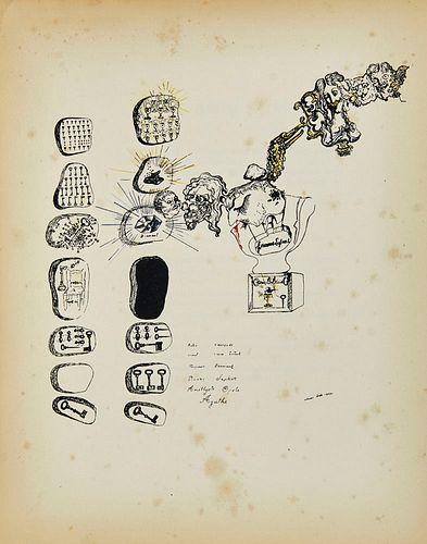 Breton, André Second Manifeste du Surréalisme. Frontispice de Salvador Dali (Club des Soixante. 1). Mit 1 pochoirkolorierten Tafel von Dali. Paris, Éd