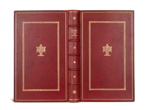 Xenophon Schriften über Sokrates. Nach der Übersetzung von C.M. Wieland. München u. Leipzig, Georg Müller, 1912. 4 Bl., 250 S. 8°. Ldr. mit Kopfgoldsc