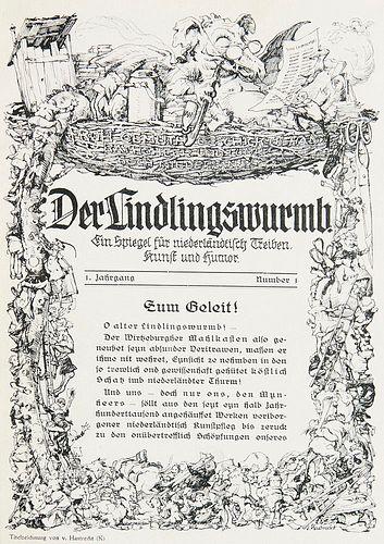 Der Lindlingswurmb. Ein Spiegel für niederländtisch Treiben, Kunst und Humor. 1. Jg. Nr. 1 (1924) - 12. Jg. Nummer 6 (1935/36) in 1 Bd., 3. Jg. Nr.
