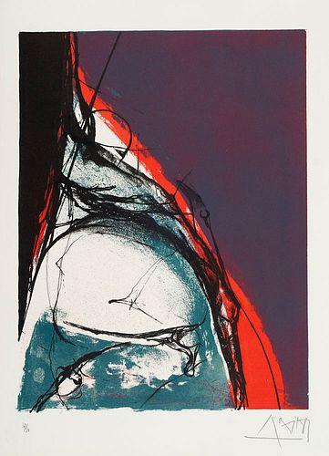 12 farbige Lithographien und Serigraphien verschiedener Künstler. (Chemnitz), Edition Galerie Oben, (um 1989). Lose Bll. in OHLwd.-Mappe. Gr.-Folio.