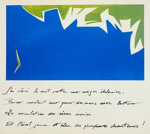 Bonnard, Roger Le bateau ivre. Handschriftliche Texte nach Arthur Rimbaud. Mit OLithographien von Roger Bonnard in Bild und Text. (Dresden, 1989). Que
