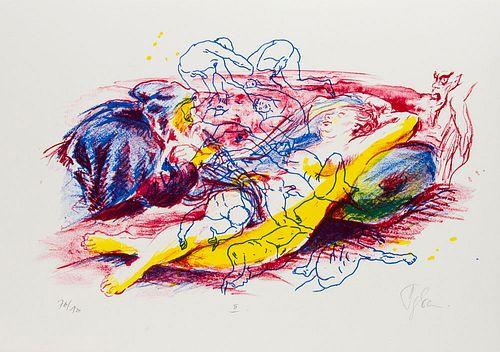 Dieckhoff, Artur u. Cornelia Ehrlich Warum ich Rubens so liebte. Zehn druckgrafische Blätter zu einem barocken Abend mit Künstlern und Modell. Frankfu