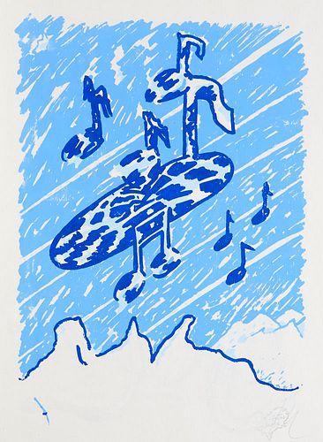 Anders, Richard Marihuana Hypnagogica. Mit 12 monogr. Serigrafien von Michael Würzberger. Berlin, Ed. Maldoror, 1997. Unpag. Folio. OPp. mit blindgepr