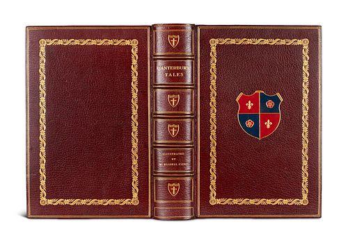 Beckford, William Vathek. Transl. by Herbert B. Grimsditch. Mit 10 color. Zeichnungen von Marion V. Dorn. Bloomsbury, The Nonesuch Press, 1929. 172 S.