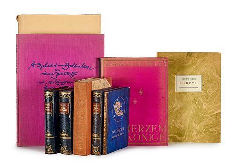 Sammlung von 12 illustrierten Büchern.